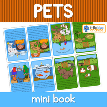 Pet families mini book