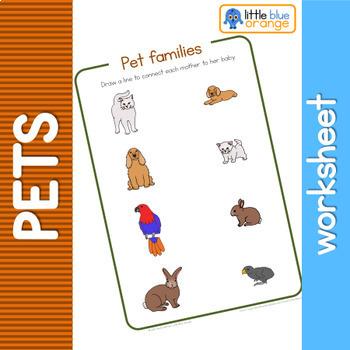 Pet families  worksheet