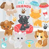Pet friends sale clipart commercial use, vector graphics, digital  - CL1130