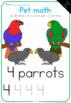 Pet math worksheets