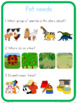 Pet animal needs circle time questions