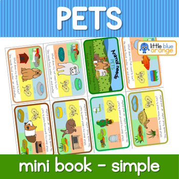 Pet animal needs mini book (simplified version)