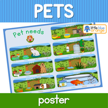 Pet animal needs poster