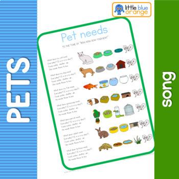 Pet animal needs song