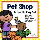 Pet shop Dramatic Play