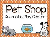 Pet shop and Pet Grooming Dramatic Play set