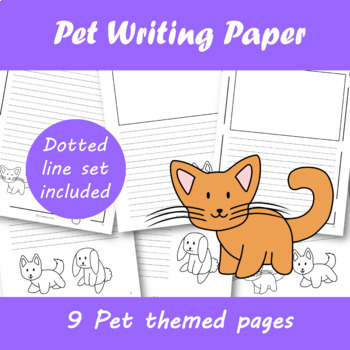 Pet themed Writing Paper