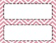 Petal Pink Chevron Classroom Tags and Labels