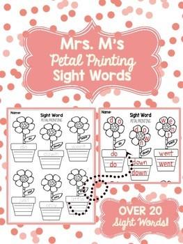 Petal Printing Sight Words