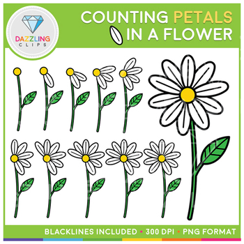 Petals in a Flower Counting Clip Art