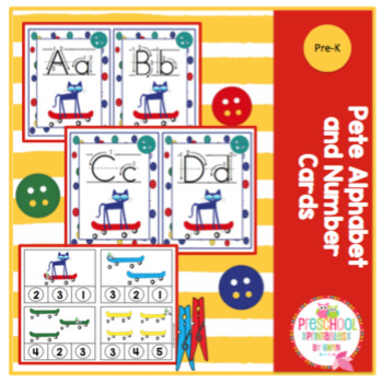 Pete Alphabet and Number Clip Cards