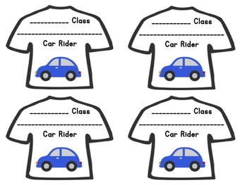 Transportation T-Shirt Tags