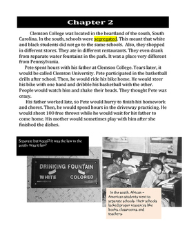 Pete Maravich Biography Guided Reading Book Gr 4 - 6