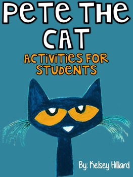 Pete The Cat Activities(cross word puzzles,rhyming activities & coloring sheets)