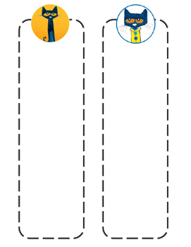 Pete The Cat Customizable Bookmark