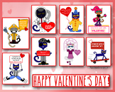Pete The Cat Happy Valentine's Day Cards (FREE!)