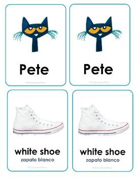 Pete The Cat Memory Game (English/Spanish)