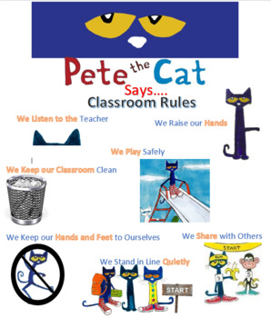 Pete The Cat Poster Rules