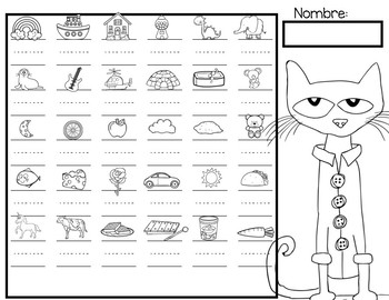Pete The Cat letras en Español
