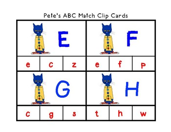 Pete Theme Literacy and Math Center Activities; Fine Motor, Sensory and STEAM