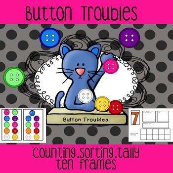 Button Trouble-Ten Frames/Tally/Numbers/Number Words