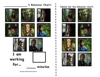 Pete's Dragon Token Behavior Chart