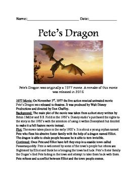 Pete's Dragon - movie review lesson facts questions vocabu