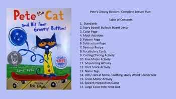 Pete's Groovy Buttons Multi-Sensory Complete Week Lesson Plan