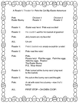 Pete the Cat Big Easter Adventure -- A Reader's Theater