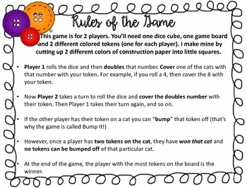 Groovy Cat Bump It!  Math Games - CCSS 2.NBT.B.5, 2.NBT.B.8, 2.OA.B.2