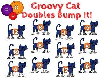 Groovy Cat Bump It!  Math Games - CCSS 2.NBT.B.5, 2.NBT.B.