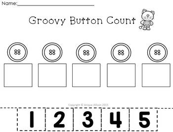 Pete the Cat Button Counting Center