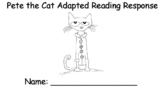 Pete the Cat Buttons Adapted Reading Response