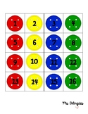 Pete the Cat Buttons Themed Student Number Labels