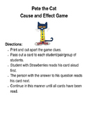 Pete the Cat Cause and Effect Game