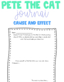 Pete the Cat Cause and Effect Journal
