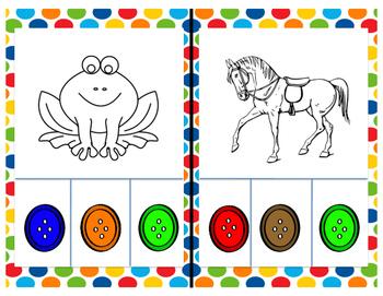 Pete the Cat Color Clip Cards