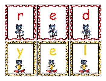 Pete the Cat Color Words Activity