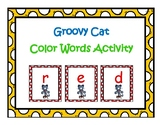 Groovy Cat Color Words Activity