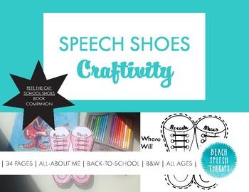 Pete the Cat Companion: Speech Shoes Craftivity