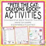 Pete the Cat Crayons Rock Activities Crossword Word Search