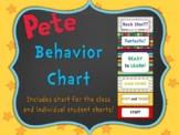Pete the Cat Editable Behavior Charts