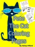 Pete the Cat Fun Coloring Pages for Students