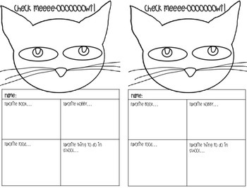 Groovy Cat Getting to Know You Activity - Print and Go