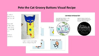 Pete the Cat Groovy Buttons Visual Recipe/Snack