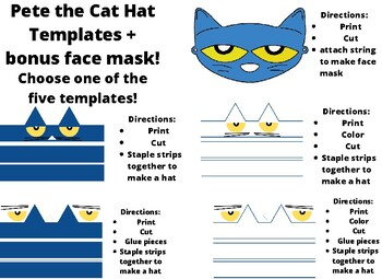Pete The Cat Hat Template By Teach Like A Princess Tpt