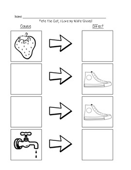 image regarding Pete the Cat Shoes Printable identified as Pete The The Cat My White Sneakers Worksheets Education
