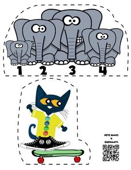 Pete the Cat Jumps 4 Elephants