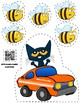 Pete the Cat Jumps 5 Bees