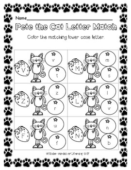 Pete the Cat-Letter Match